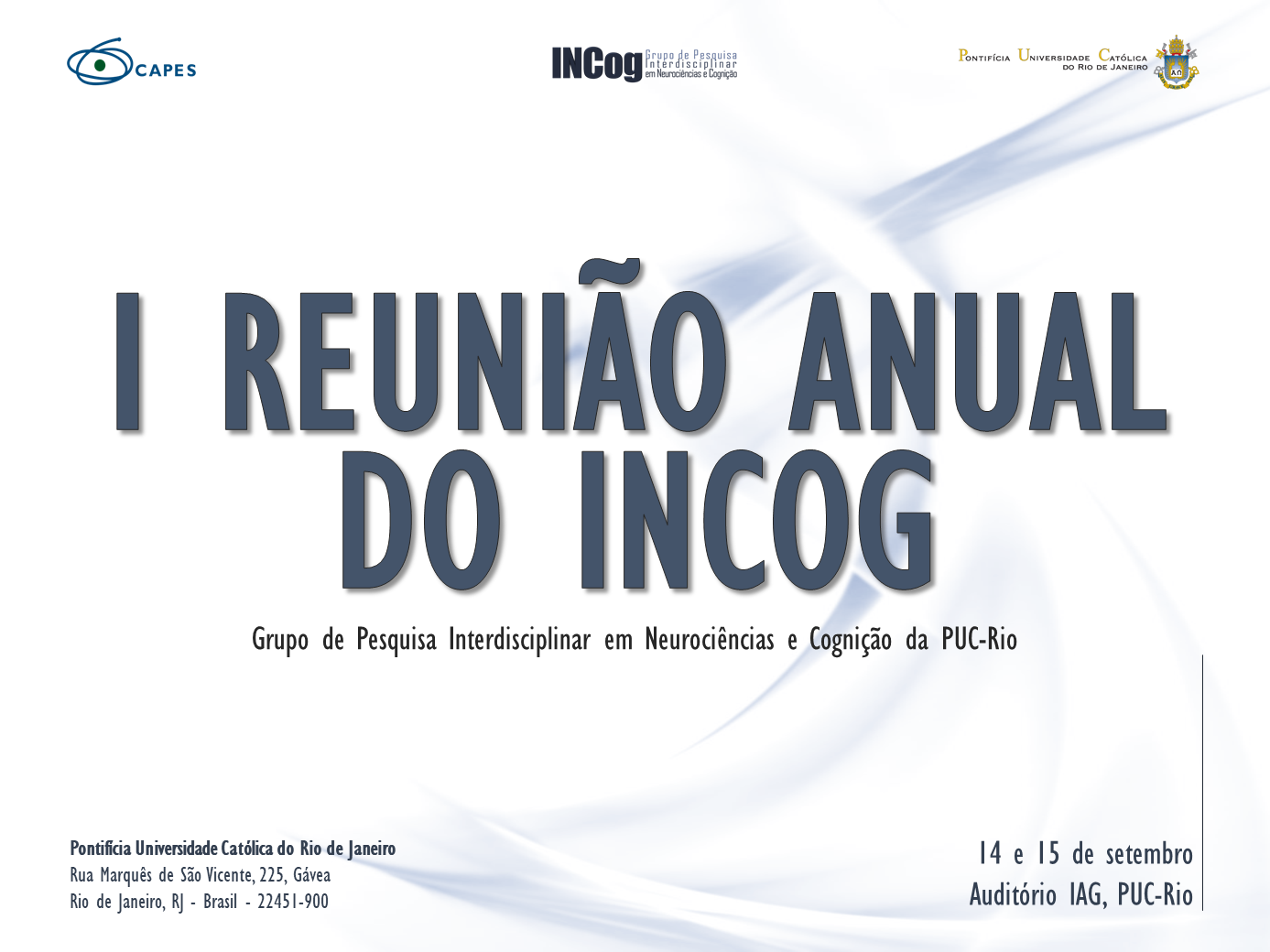 I Reunião Anual do INCog